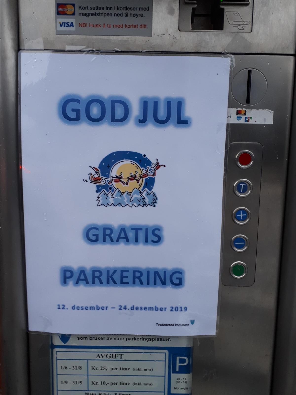 Gratis Parkering Tvedestrand Kommune